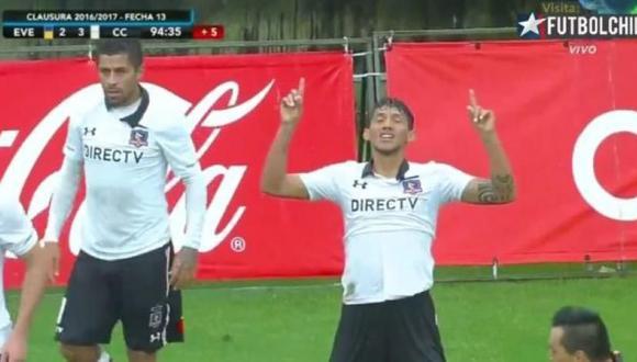 Gol agónico de Chistopher Gonzales para victoria de Colo Colo. (Captura)