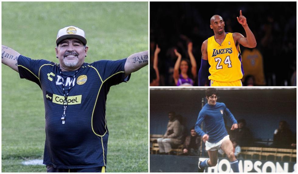 Diego Maradona, Kobe Bryant y Paolo Rossi fueron algunas leyendas del deporte que nos dijeron adiós este 2020. (Fotos: AFP)