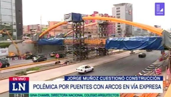 Puentes nuevos no descongestionarían el tránsito vehicular en la zona. (Foto: Captura de video / 90 Matinal)