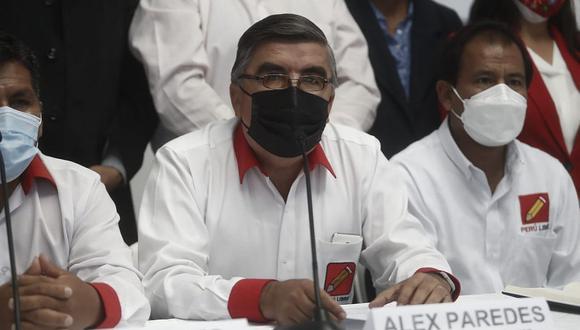 Alex Paredes, congresista y vocero de Perú Libre. (Foto: César Campos / @photo.gec)