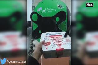 Empresa de reparto usa drone para cobros y entrega de pedidos