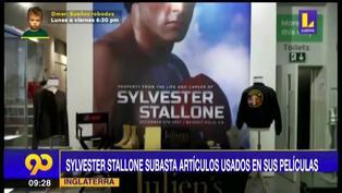 Sylvester Stallone subasta las reliquias de sus películas