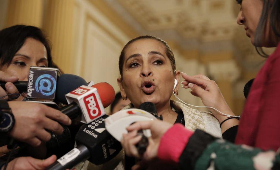 Maritza García rechazó ser aliada de Fuerza Popular. (Foto: Renzo Salazar / GEC)