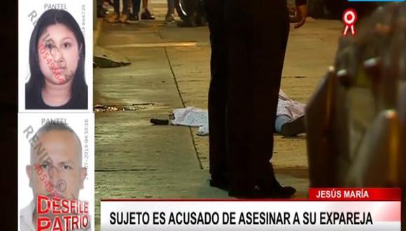 Tras asesinar a su expareja, Adolfo Canales se disparó a la altura del cuello con la intención de acabar con su vida, pero no lo logró. Su estado es grave y permanece en el hospital Santa Rosa. (Captura: Buenos Días Perú)