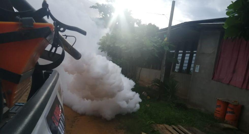 Madre de Dios: Reinician fumigación contra dengue con maquinaria pesada para cubrir el 100% de las viviendas