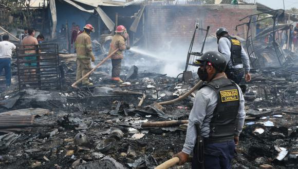Piura: cinco familias damnificadas por incendio ocurrido en asentamiento humano (Foto: Municipalidad Castilla).