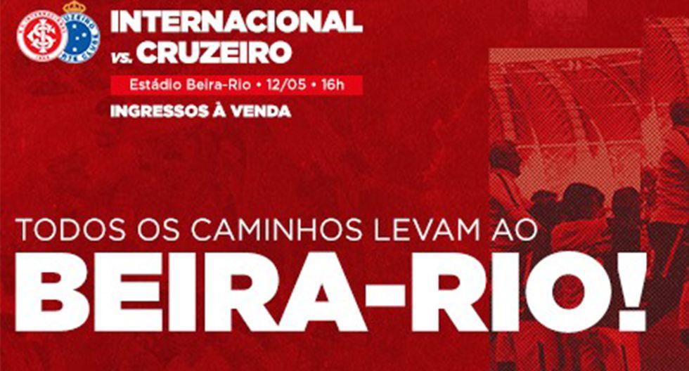 Internacional recibe a Cruzeiro en busca de sumar su segunda victoria en el Brasileirao. (Foto: SC Internacional)