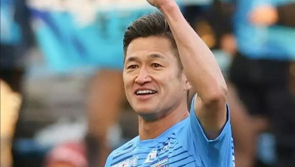 Kazuyoshi Miura busca un nuevo récord en futbol mundial (Foto: AFP)