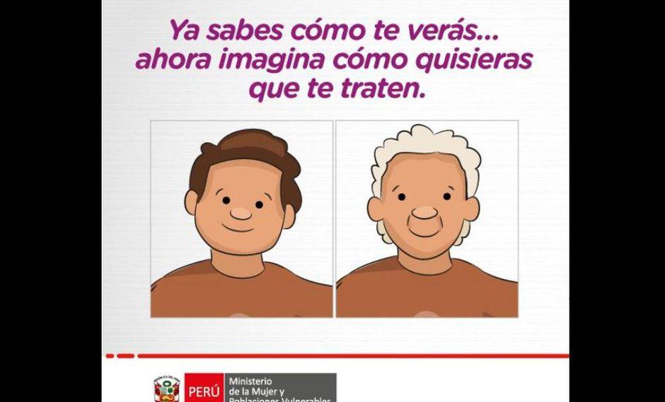 """Como parte de la campaña """"Buen trato"""" para las personas adultas mayores, el MIMP emitió un mensaje concientizador aprovechando la coyuntura. (Foto: MIMP)"""