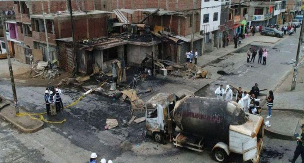 Se elevó a 26 la cifra de muertos que dejó el incendio en Villa El Salvador tras una fuga de gas que causó un incendio en Villa El Salvador. (Foto: GEC)