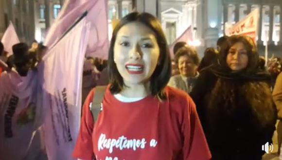 Abogada ayacuchana participa en la marcha 'Ni Una Menos' que busca erradicar la violencia de género en el Perú. (Perú21)