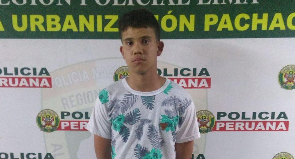 Los agentes de la Policía Nacional del Perú (PNP) detuvieron esta noche a Christian Torres Garay (18), quien atacó a una mujer de 34 años con su arma de fuego. (Foto: Mininter)