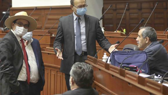 Los congresistas de Acción Popular también cuestionaron a los que respaldaron la designación de José Elice como ministro del Interior. (Foto: Congreso)