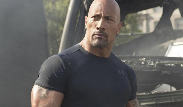 Dwayne 'The Rock' Johnson was not present at 'R & F9', but Jason Statham was.  (Photo: Universal)