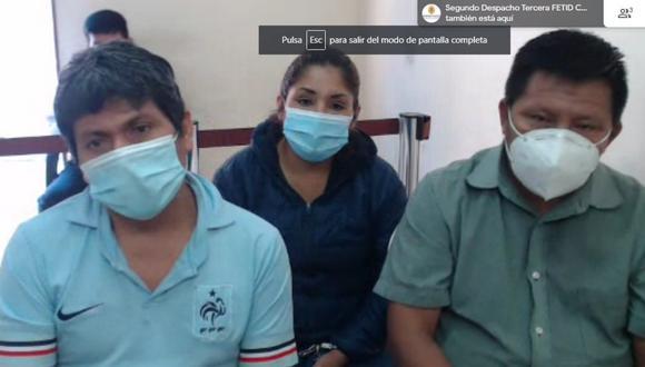Los acusados en la audiencia de prisión preventiva. (Captura del Poder Judicial)