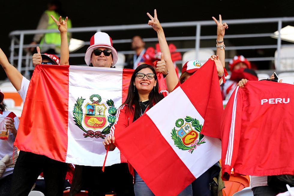 Perú cayó 1-0 ante Dinamarca en su primera presentación por el grupo C de la Copa Mundial de la FIFA Rusia 2018, sin embargo, se registró una fiesta blanquirroja en las tribunas del estadio Mordovia Arena. (GETTY IMAGES)