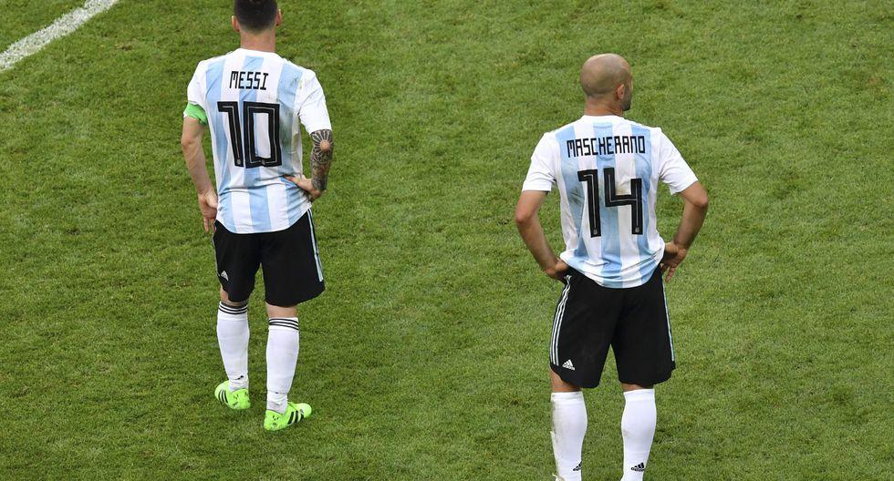 Con Mascherano en cancha, Argentina cayó ante Francia en Kazán y quedó eliminada del Mundial.(AFP)