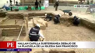 Hallan restos arqueológicos virreinales en la plazuela de San Francisco