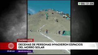 Chorrillos: decenas de personas invaden espacio del Morro Solar