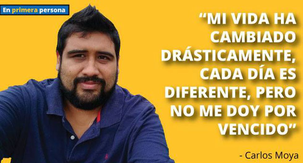 Carlos Moya, de 30 años, ha cambiado su vida drásticamente. Cada día es una batalla.