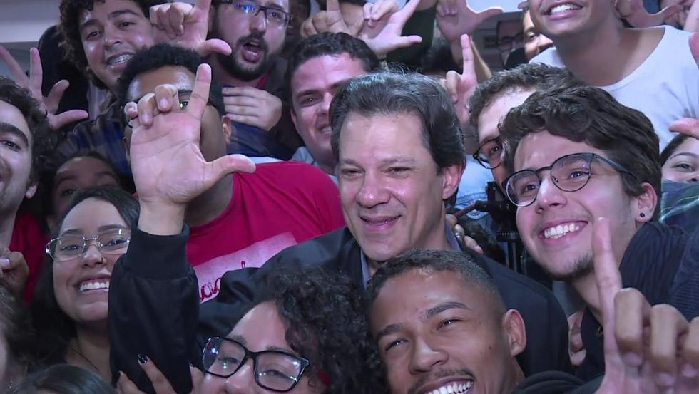 Fernando Haddad, el candidato ensombrecido por Lula. (AFP)