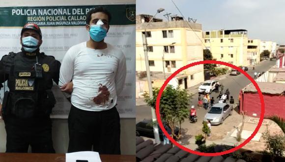 Policía captura a 'cogotero', minutos después de robar un celular en la región del Callao.