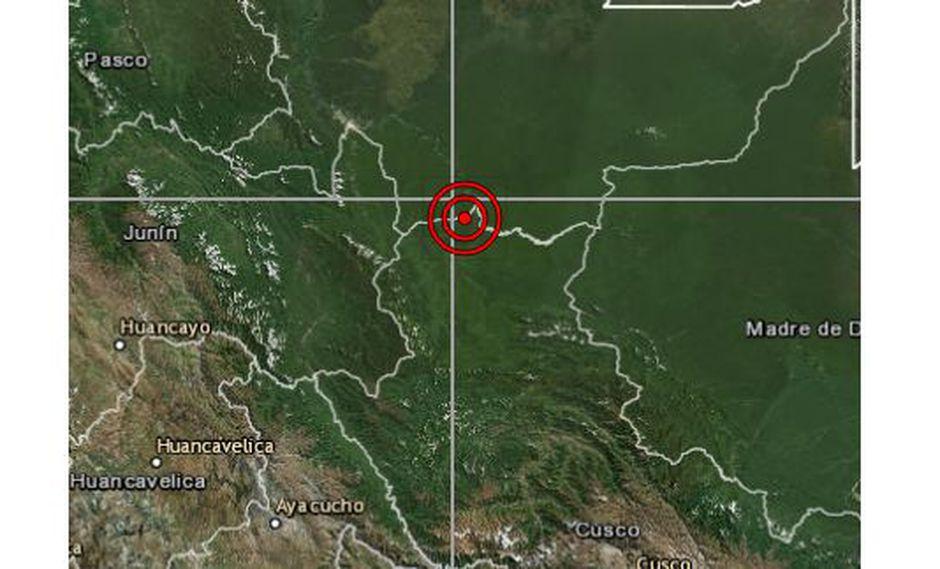 Un sismo de magnitud 4,0 se registró en Madre de Dios la noche del martes a las 21:23 horas, según IGP. (Foto: IGP)