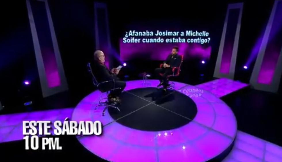 El dominicano dio detalles de la relación que tuvo con la 'exguerrera' Michelle Soifer. (Foto: Captura de video)