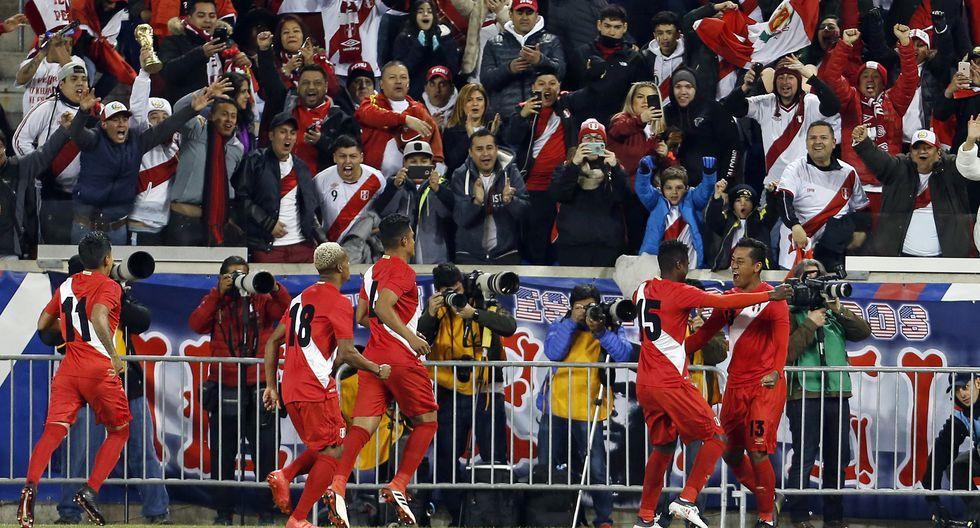 La celebración de la selección peruana. (AFP)