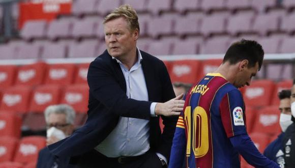 Ronald Koeman preocupado por el futuro de Lionel Messi en Barcelona. (Foto: Reuters)