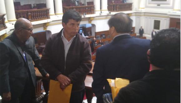 Pedro Castillo reapareció esta tarde en el Congreso. (GEC)