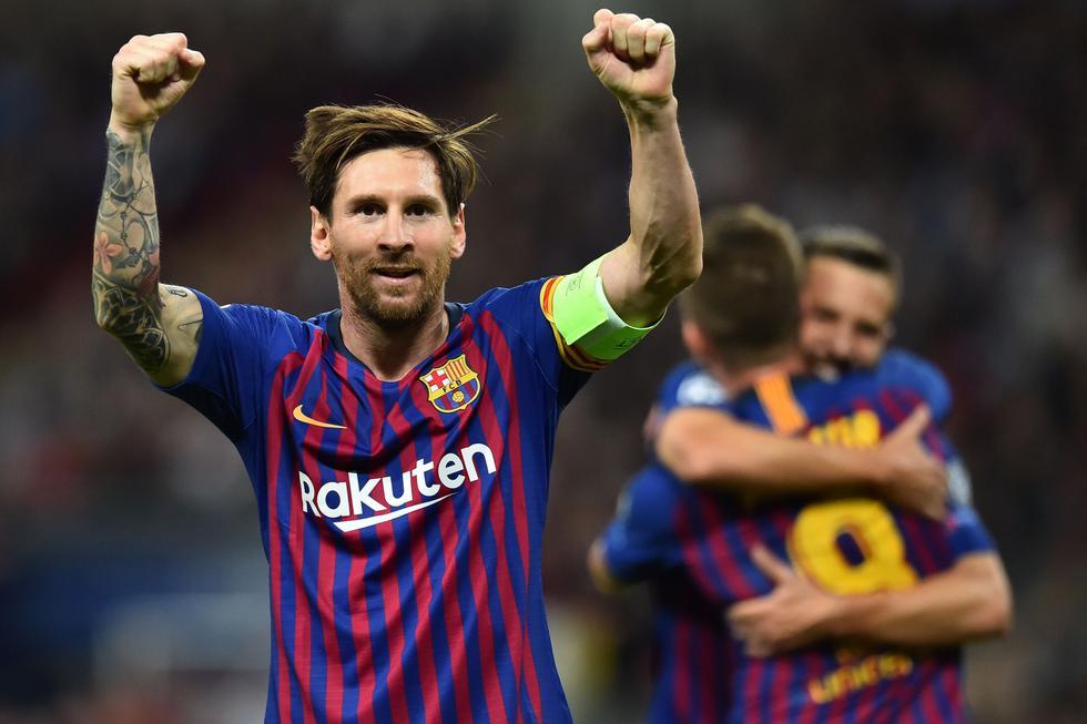 Con dos goles de Messi, Barcelona venció 4-2 al Tottenham por la Champions League. (Reuters)
