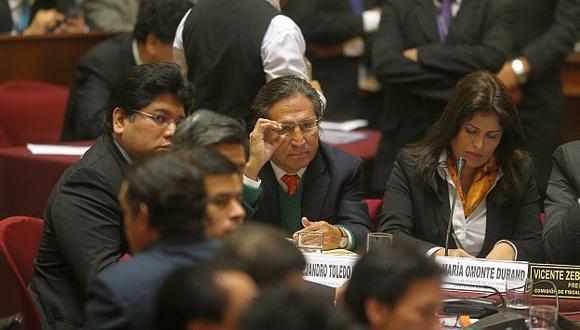 Alejandro Toledo en la sesión de Fiscalización en que no declaró. (Perú21)