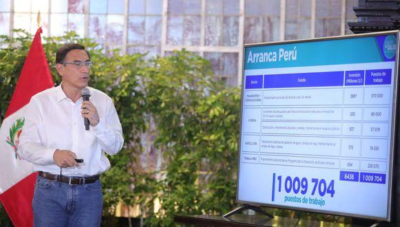 Presidente Martin Vizcarra anunció la creación de Arranca Perú (Presidencia).