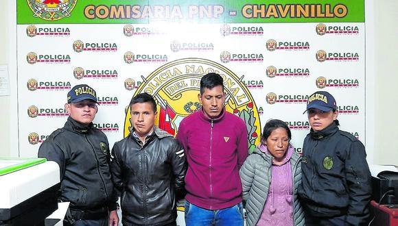 """Agentes PNP desarticula red criminal denominada """"Las hienas de Chupán""""."""