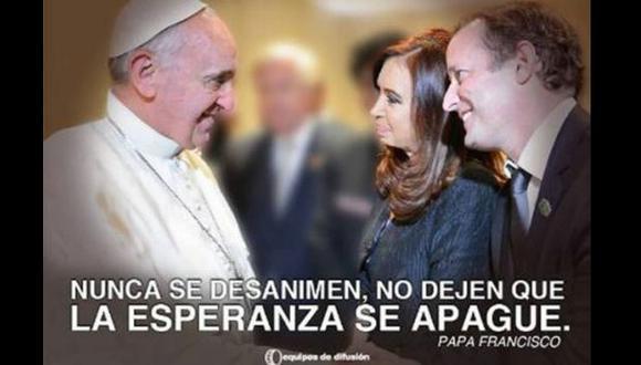 La mandataria argentina aclaró que la imágenes no tienen fines proselitistas. (El mundo)