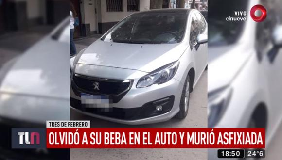 El padre fue detenido tras el hecho por homicidio culposo. (Foto: captura Canal 9 Argentina)