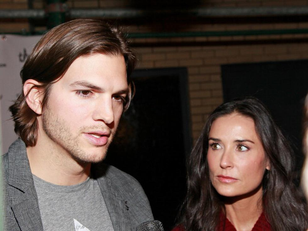 Demi Moore confirmó infidelidades de su exesposo Ashton Kutcher en su libro 'Inside out'.   Getty