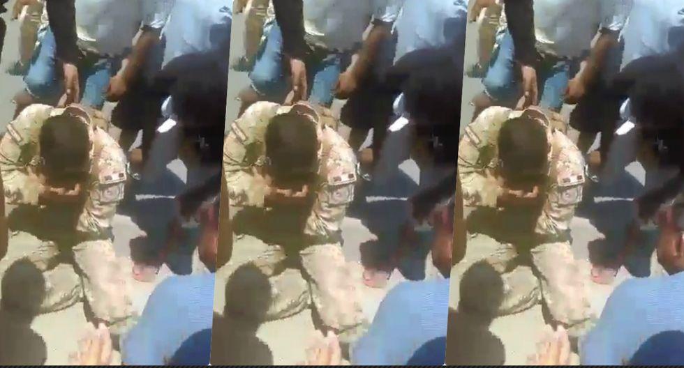 Soldado fue atropellado en Talara. (Foto: Captura Walac Noticias)
