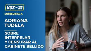"""Adriana Tudela: """"Tenemos que interpelar y censurar al gabinete Bellido"""""""