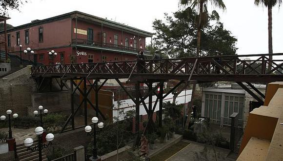 El tradicional Puente de los Suspiros en Barranco será remodelado. (USI)