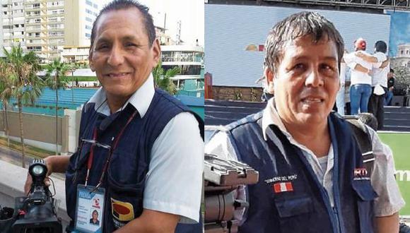 Mario Bucana y Manuel Sánchez, periodistas gráficos que fallecieron por el coronavirus. (GEC)