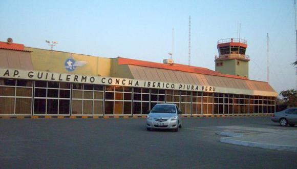 El aeropuerto Guillermo Concha Iberico está operativo según Ositran. (Difusión)