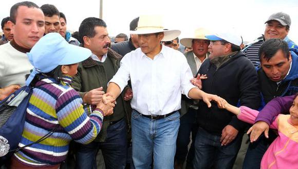 Humala defiende mapa. (Presidencia)