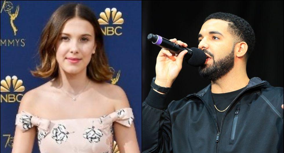 La actriz destacó su amistad con el rapero estadounidense Drake. (Foto: Composición/AFP)