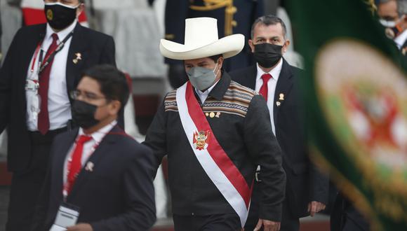 El presidente Pedro Castillo cumple funciones este lunes desde Palacio de Gobierno. (Foto: EFE)