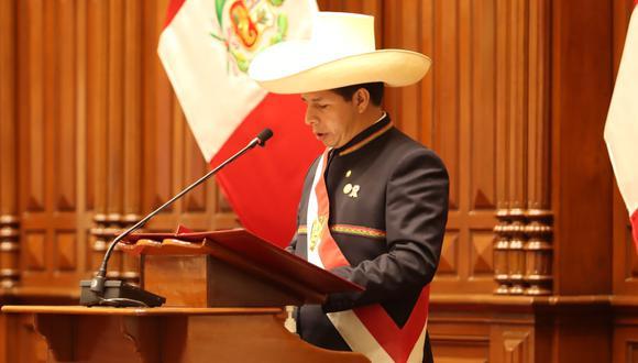 El presidente Pedro Castillo anunció reformas a la ley de publicidad estatal (@PedroCastilloTE).