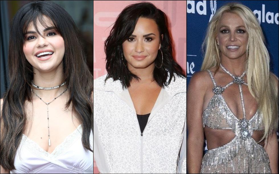 Selena Gomez, Demi Lovato, Britney Spears y más artistas fueron internadas en un centro de salud mental. (Foto: Composición/AFP)