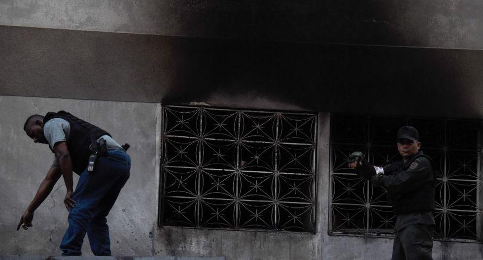 Venezuela: Difunden fotografías del momento de la explosión en discurso de Nicolás Maduro. (EFE)