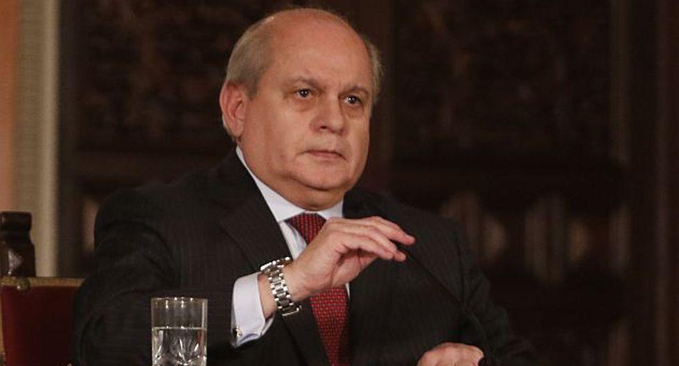 Pedro Cateriano hizo anuncio sobre seguridad ciudadana. (Roberto Cáceres)